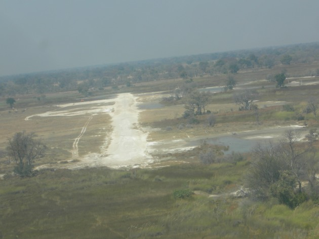 Bush runway in the Okavango delta Botswana