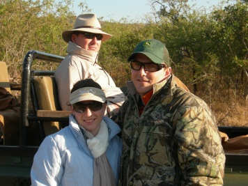 Enjoying game drive with Nico (My Son) and Elaine his wife.