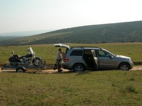 Harley on a game drive - Private Lodge