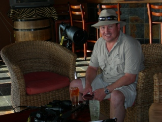 Relaxing during a Kruger National Park shoot