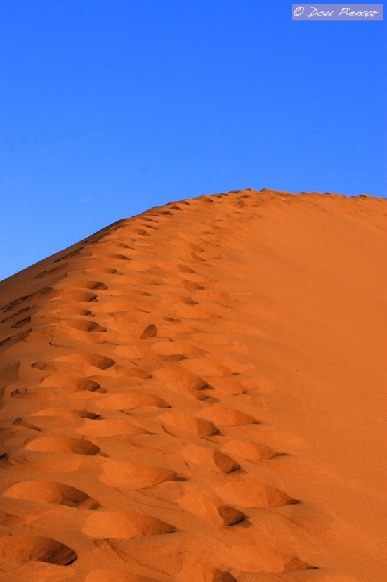 Human track on the Sossusvlei dunes