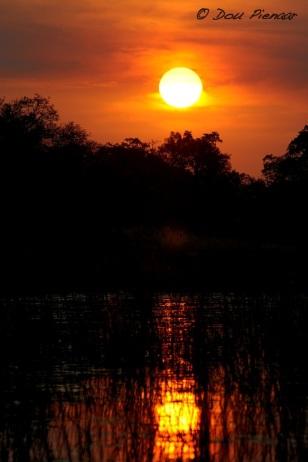 Water reflecting Sunset