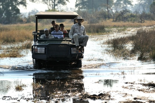 &Beyond Game viewing vehicle river crossing